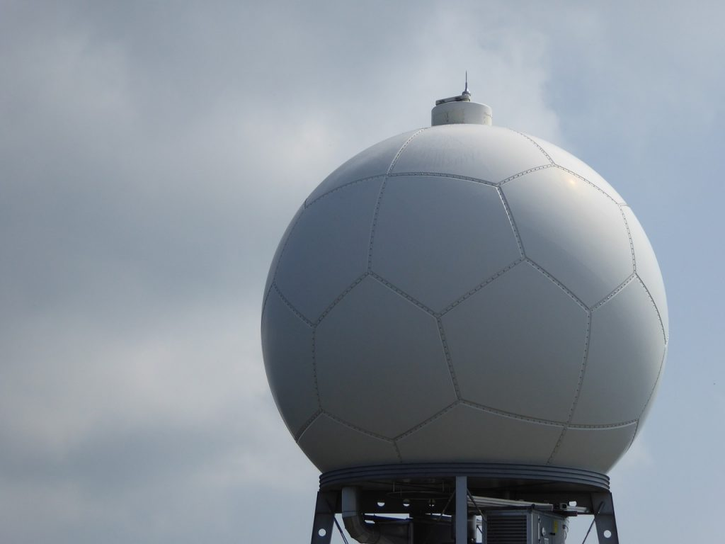 A stationary weather radar