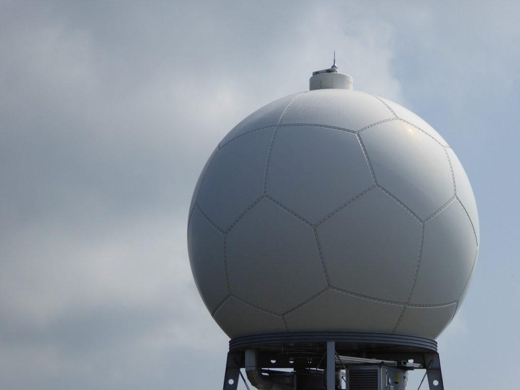 A stationary weather radar